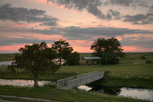 Sunset in Loxahatchee National Wildlife Refuge, Delray, Florida. Photo courtesy of Daniel Schwen.