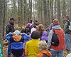 Walker Hackensack Akeley school hike along the big pines