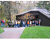 Students waiting to explore the Visitor Center