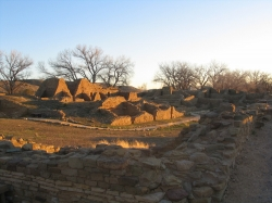 Aztec Ruins at sunset