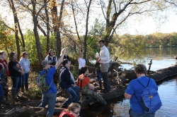 A BLM natural resources specialist discusses island ecology with students from Bartels Middle School in Portage, Wisconsin.