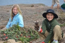 5TH Grade students_Plant Restoration_Anacapa Island