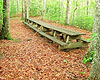 Decoration Day picnic tables