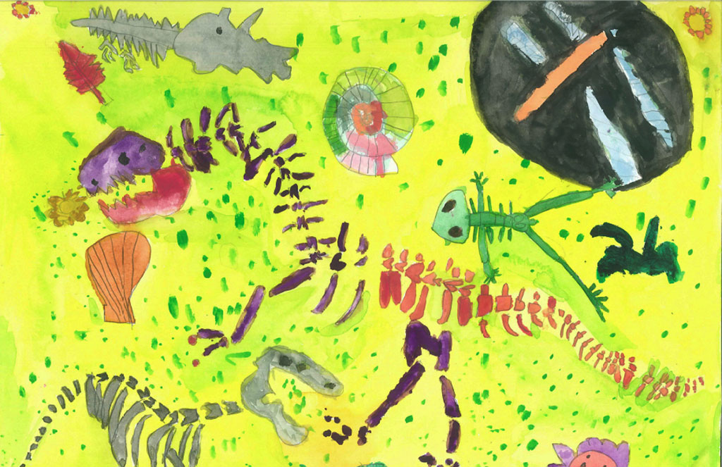 National Fossil Day 2016 Art Contest Winner, First Place 5-8 Year Old Category. Sue L. (Age 5), Beverly Hills, CA